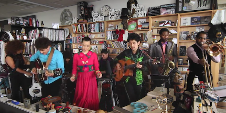 NPR Music and alt. Latino present a Tiny Desk Concert video with Monsieur Periné